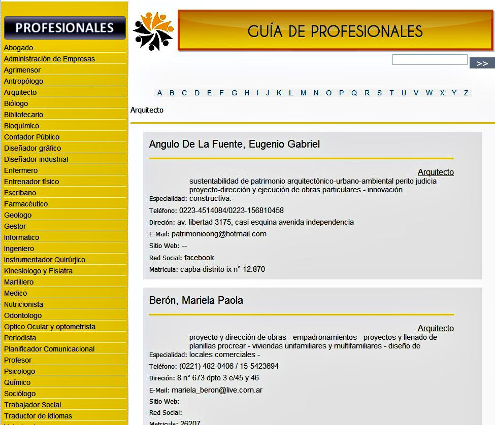 NUEVO SERVICIO GRATUITO: Guía de Profesionales de la UNLP